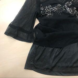 Badgley Mischka Tops - Badgley Mischka Sequins Embellished Blouse